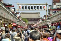 Senso籍寺庙在浅草,东京,日本 免版税库存照片