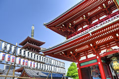 Senso籍寺庙在浅草,东京,日本 库存照片