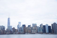 Senso commerciale di giorno della costruzione di New York Fotografia Stock Libera da Diritti