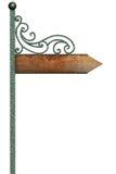 Senso dell'indicatore sul palo della via. royalty illustrazione gratis