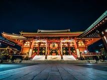 Senso-ji świątynia przy nocą, Asakusa, Japonia zdjęcia royalty free