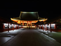 Senso-ji на ноче Стоковые Изображения