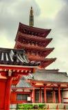 Пагода 5-этажа виска Senso-ji, Asakusa, токио Стоковые Фотографии RF