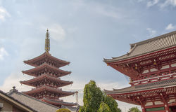 Senso-ji Tempel, Tokyo Stockbilder