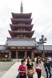 Senso-ji tempelpagod Arkivfoto