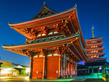 Senso-ji, Temple in Asakusa, Tokyo, Japan. Stock Photography