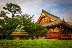 Senso-ji temple Hondo at sunset, Tokyo, Japan. Senso-ji Kannon temple Hondo at sunset, Tokyo, Japan Royalty Free Stock Photos