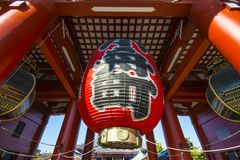 Senso-ji Temple Lantern Stock Images