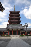 Senso-ji Temple. It is the oldest temple in Tokyo and it is one of the most significant Buddhist temples located in Asakusa area Stock Photo