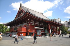 Senso-ji Temple. It is the oldest temple in Tokyo and it is one of the most significant Buddhist temples located in Asakusa area Royalty Free Stock Photos