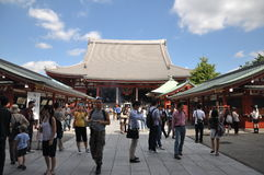 Senso-ji Temple. It is the oldest temple in Tokyo and it is one of the most significant Buddhist temples located in Asakusa area Stock Image