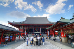 Senso-ji Temple in Tokyo. The Buddhist Temple Senso-ji is the symbol of Asakusa and one of the most famed temples in all of Tokyo and Japan attracting thousands Stock Photography