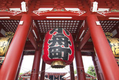 Senso-ji Temple,Tokyo. Famous giant red lantern in Senso-ji Temple Royalty Free Stock Images
