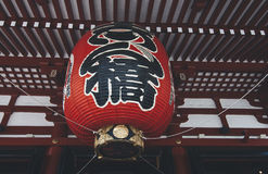 Senso-ji Temple,Tokyo. Famous giant red lantern in Senso-ji Temple Stock Photos