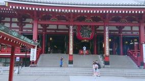 Senso-Ji Temple in Tokyo - famous Sensoji in Asakusa - TOKYO / JAPAN - JUNE 12, 2018. Senso-Ji Temple in Tokyo - famous Sensoji in Asakusa - TOKYO - JUNE 12 stock video