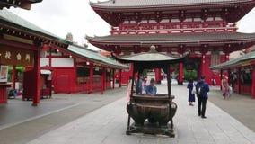 Senso-Ji Temple in Tokyo - famous Sensoji in Asakusa - TOKYO / JAPAN - JUNE 12, 2018. Senso-Ji Temple in Tokyo - famous Sensoji in Asakusa - TOKYO - JUNE 12 stock footage
