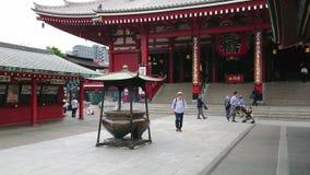 Senso-Ji Temple in Tokyo - famous Sensoji in Asakusa - TOKYO / JAPAN - JUNE 12, 2018. Senso-Ji Temple in Tokyo - famous Sensoji in Asakusa - TOKYO - JUNE 12 stock video footage