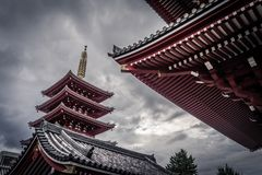 Senso-ji temple in Tokyo royalty free stock photography