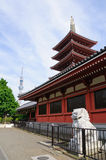 Senso-ji Temple and Tokyo Sky Tree Stock Photos