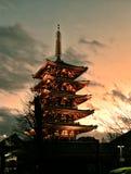 Senso JI Tokio Asakusa pagoda obraz royalty free