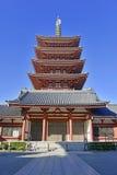 Sensoji佛教寺庙在浅草,东京,日本 免版税库存照片