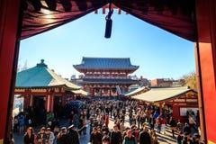 Sensoji寺庙在东京,日本 库存照片
