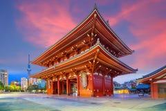 Sensoji寺庙在浅草地区,东京 图库摄影
