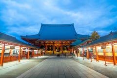Sensoji寺庙在浅草地区,东京 免版税库存照片
