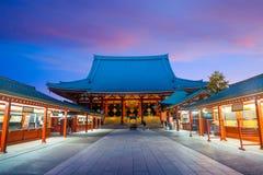 Sensoji寺庙在浅草地区,东京 免版税库存图片