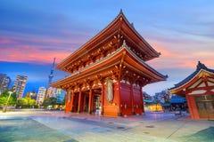 Sensoji寺庙在浅草地区,东京 库存图片