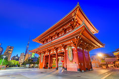 Sensoji寺庙门在东京 库存照片