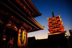 Sensoji寺庙,浅草东京日本 图库摄影
