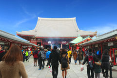 Sensoji寺庙,浅草日本2月19' 16日 免版税库存图片