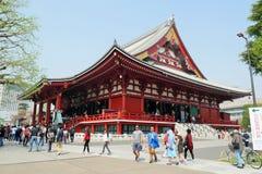 Sensoji寺庙, Asaskusa kannon寺庙东京日本2018年 库存照片