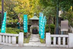 Sensoji寺庙` s神圣的雕象在浅草区 Senso籍建立了 库存图片