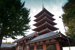 Sensoji浅草寺庙。 免版税库存照片