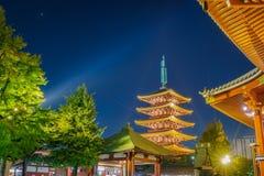 Sensoji籍寺庙在浅草日本 免版税库存照片