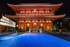 Sensoji籍,寺庙在浅草,东京,日本 库存图片