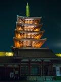 Sensoji-æµ… è  ‰ 寺 Tempel, Tokyo, Japan pagode Lizenzfreies Stockfoto