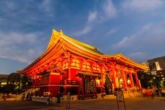 Sensoji, также известное как висок Asakusa Kannon Стоковые Фото