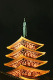sensoji 3 pagoda Стоковые Фотографии RF