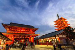 Sensoji, also known as Asakusa Kannon Temple . Stock Photo