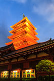 Sensoji, also known as Asakusa Kannon Temple . Royalty Free Stock Photo