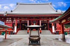 Sensoji Asakusa寺庙,东京,日本 库存图片