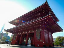 Sensoji or Asakusa Kannon Temple is a Buddhist temple located in Asakusa, landmark and popular for tourist attractions. 7 April 20 royalty free stock photography