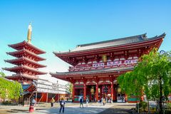 Sensoji or Asakusa Kannon Temple is a Buddhist temple located in Asakusa, landmark and popular for tourist attractions. 7 April 20 stock images