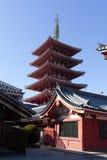 Sensoji (Asakusa) pagoda Royalty Free Stock Photo