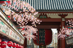 Sensoji Asakusa Temple, Tokyo, Japan. Tokyo, Japan - Mar 22, 2016 - Sensoji temple shopping street and big red japanese lantern gate. Sensoji temple is the most Stock Images