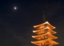 Sensoji Buddhist temple at night Stock Image