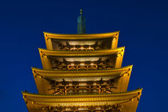 Sensoji Buddhist temple at night Royalty Free Stock Photo